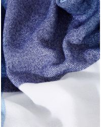 ASOS - Oversized Woven Blue Check Scarf - Blue - Lyst