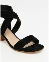 ASOS - Tea Time Mid Heel Sandals - Black - Lyst
