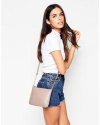 Modalu - Natural Leather Crossbody Bag - Lyst