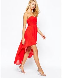TFNC London - Red Prom Dress With High Low Hem - Lyst