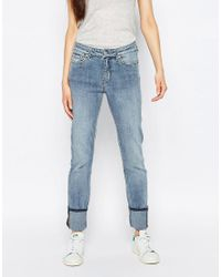 Weekday - Blue Tuesday Mid Rise Slim Leg Jeans - Lyst
