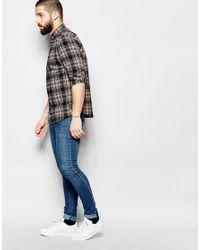 Only & Sons - Black Check Shirt In Regular Fit for Men - Lyst