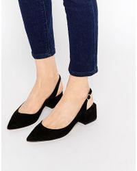 ALDO - Shirley's Black Mid Heeled Ankle Tie Shoes - Lyst