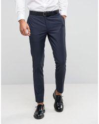 ASOS - Black Skinny Suit Pants With Tonal Design for Men - Lyst