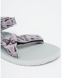 Teva - White Original Universal Mosaic Pink Flat Sandals - Lyst