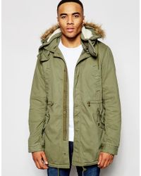 Native Youth | Green Sherpa Lined Parka Jacket for Men | Lyst