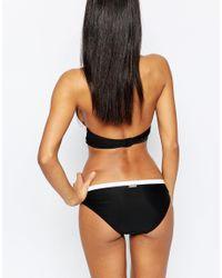 Lipsy - Black Mono Cross Over Bikini Bottom - Lyst