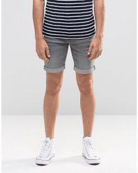 Blend | Gray Twister Slim Denim Shorts Grey for Men | Lyst