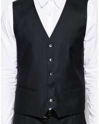 SELECTED - Black Elected Homme Waistcoat In Slim Fit for Men - Lyst