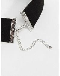 River Island - Black Chain Corset Necklace - Lyst