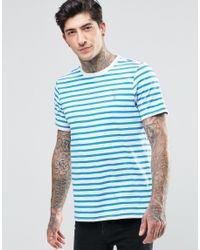 Farah - Blue T-shirt With Breton Stripe Slim Fit for Men - Lyst
