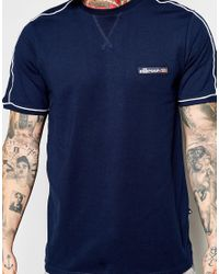 Ellesse - Black T-shirt With Shoulder Piping for Men - Lyst