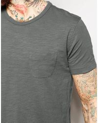 YMC - Black T-shirt With Pocket In Grey for Men - Lyst
