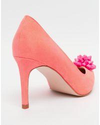 ASOS - Pink Sienna Wide Fit Pointed Heels - Lyst