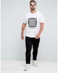 ASOS - White Plus T-shirt With Circle Print for Men - Lyst