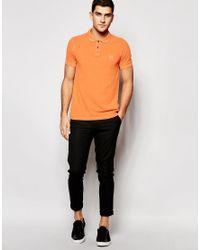 BOSS Orange - Orange Polo Shirt With Logo In Slim Fit for Men - Lyst