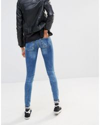 Noisy May Tall - Blue Even Slim Waistband Jeans - Lyst