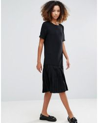 YMC | Black Basic Dropped Hem Dress | Lyst