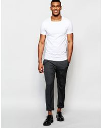 ASOS - Muscle T-shirt With Square Neck In White for Men - Lyst