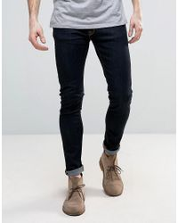 Nudie Jeans | Blue Nudie Skinny Lin Super Skinny Jeans Dry Deep Orange for Men | Lyst