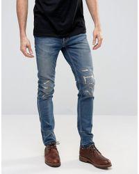 Nudie Jeans | Blue Nudie Lean Dean Slim Tapered Jeans Niclas Replica for Men | Lyst
