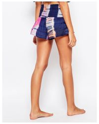 Surf Gypsy | Blue Tie Dye Smock Beach Shorts | Lyst