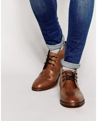 H by Hudson | Brown Houghton Leather Chukka Boots for Men | Lyst