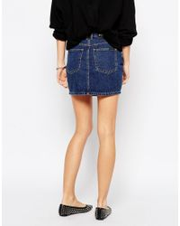 Dr. Denim - Blue Celia Denim Skirt - Lyst