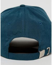 ASOS - Blue Baseball Cap In Teal Peached Fabric for Men - Lyst