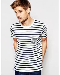 SELECTED - Black Elected Homme Stripe T-shirt for Men - Lyst