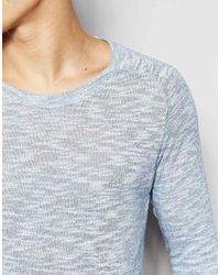 SELECTED - Blue Elected Homme Lightweight Knitted Jumper In Twisted Yarns for Men - Lyst