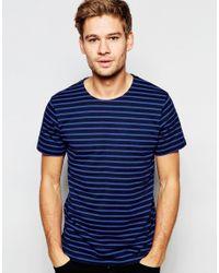 SELECTED - Blue Elected Homme Stripe T-shirt for Men - Lyst