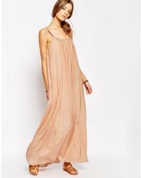 Suncoo - Natural Uncoo Ropeneck Maxi Dress In Pink - Lyst
