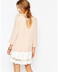 Suncoo - Natural Uncoo V Neck Blouse In Pink - Lyst