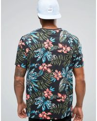 ASOS | Blue T-shirt With All Over Tropical Floral Print In Relaxed Fit for Men | Lyst