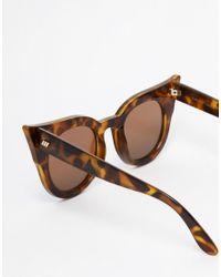 Le Specs - Blue Flashy Dramatic Cat Eye Sunglasses - Lyst