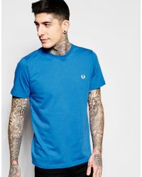 Stussy | Blue T-shirt With Laurel Wreath Logo for Men | Lyst