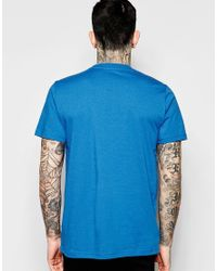 Stussy - Blue T-shirt With Laurel Wreath Logo for Men - Lyst