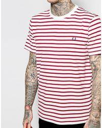 Stussy - Pink T-shirt With Breton Stripe for Men - Lyst