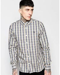 Stussy - Multicolor Shirt With Herringbone Gingham Check In Slim Fit for Men - Lyst