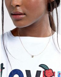 ASOS | Metallic Cut Out Moon And Stars Short Pendant Necklace | Lyst