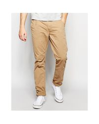 Blend - Natural Chinos Twister Slim Fit In Lead Gray for Men - Lyst