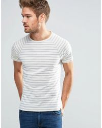 Blend | Striped Slim Raglan T-shirt In Classic Blue for Men | Lyst