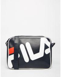 Fila - Blue Black Line Bieri Messenger Bag for Men - Lyst