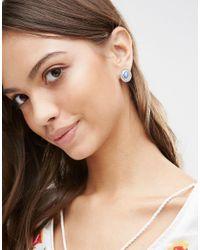 Ashiana | Metallic Shiana Vintage Effect Stone Stud Earrings | Lyst