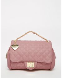 Marc B. - Quilted Shoulder Bag In Sherbert Pink - Lyst