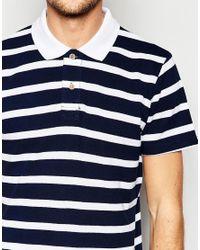 Esprit - White Stripe Pique Polo Shirt for Men - Lyst