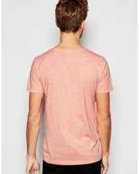 Esprit - Pink T-shirt With Ace Of Spades Print for Men - Lyst