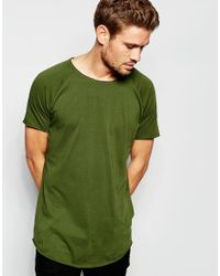 Esprit - Natural Longline T-shirt With Raw Edges for Men - Lyst