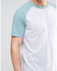 New Look - Gray Ringer Raglan T-shirt In Green for Men - Lyst